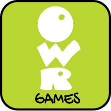 Green OWR Games logo with black boarder around the edge