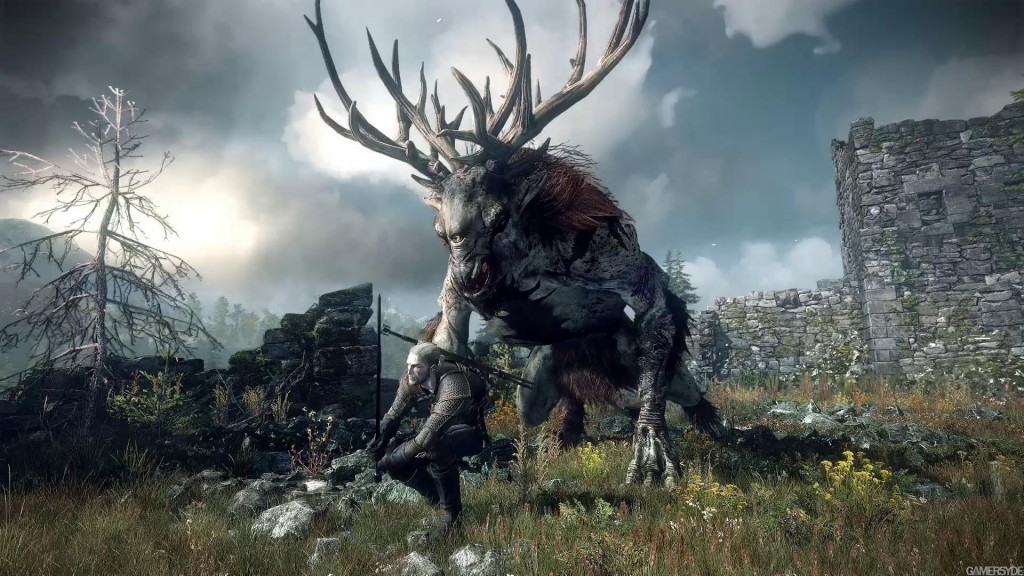 witcher 3 with monster deer