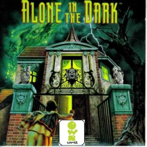 owr games logo on the cover of alone in the dark